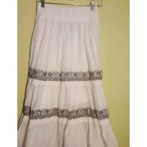 Style & Co Women's Maxi White Long Skirt Size S